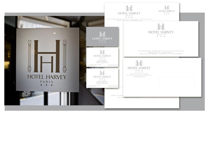 Mood board Design gourmet : Papeterie institutionnelle de l'hotel et signalitique