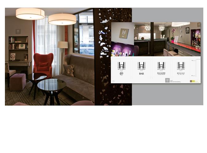 Mood board Design gourmet : Signalitique lounge,bar,accès internet,bagagerie