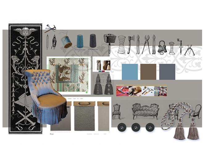 Mood board Design gourmet : Création de l'univers graphique