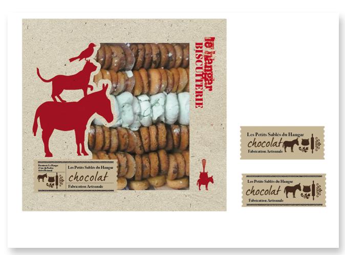 Mood board Design gourmet : création du packaging d'une boite d'assortiments de gateaux