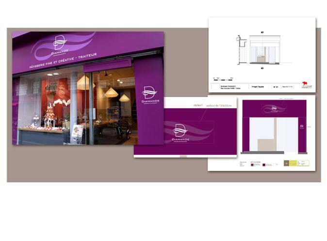 cr ation boutique fa ade am nagement packaging. Black Bedroom Furniture Sets. Home Design Ideas