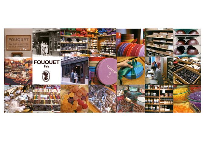 Mood board Design gourmet : Création des packagings de la gamme Fouquet