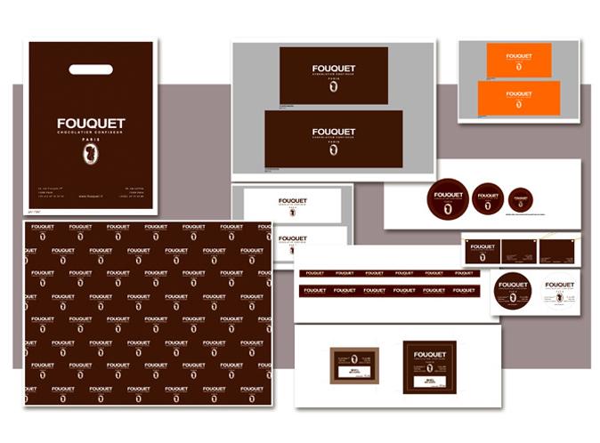 Mood board Design gourmet : création du semis graphique,déclinaison de la marque sur l'ensemble des supports