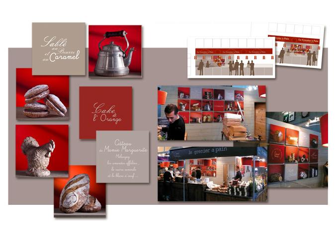 Mood board Design gourmet : création du décor pour le stand sur le Salon du Chocolat ,Porte de Versailles.