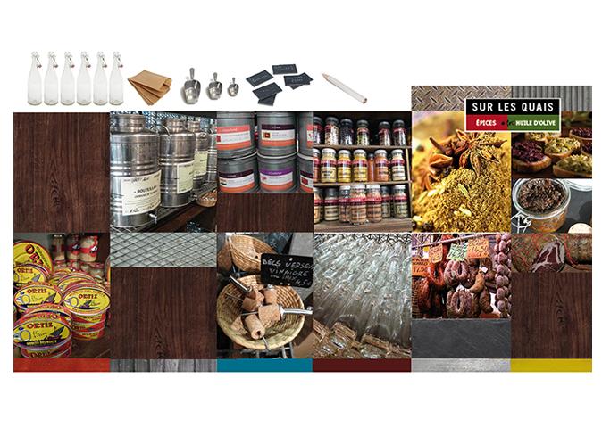 Mood board Design gourmet : une jolie sélection de produits méditerranéens