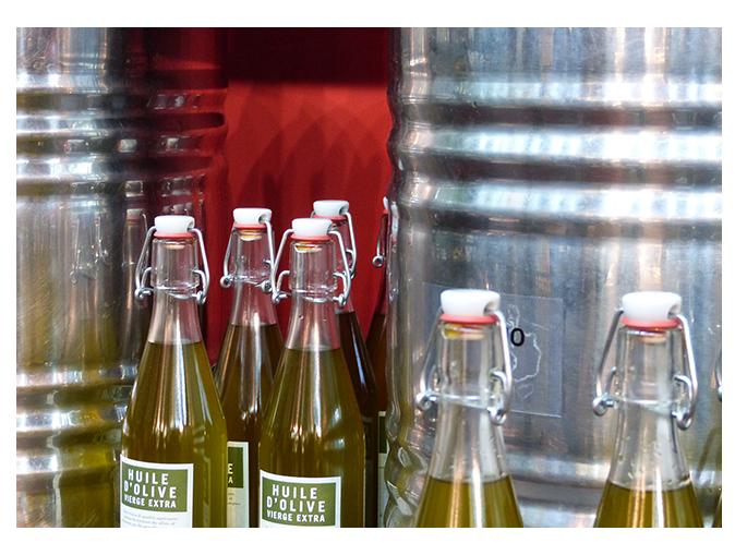 Mood board Design gourmet : les huiles d'olive, stars de la boutique
