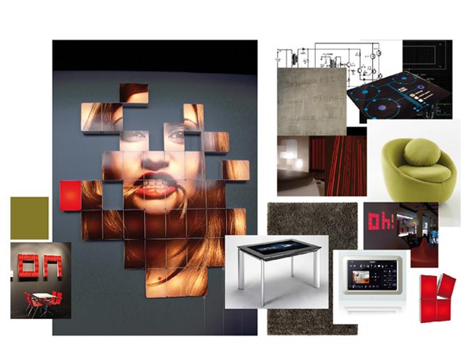 Mood board Design gourmet :