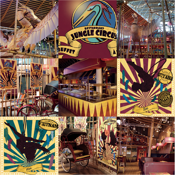 Création du restaurant Jungle Circus # Restaurant Center Parc Bois Aux Daims
